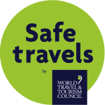 Safe Travels Stamp logo image