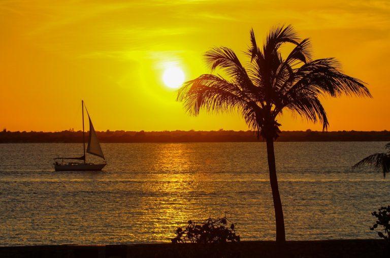 grenada, caribbean, sunset, sailboat