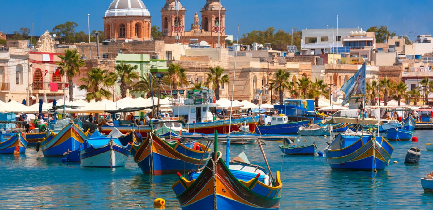 Malta harbour boats