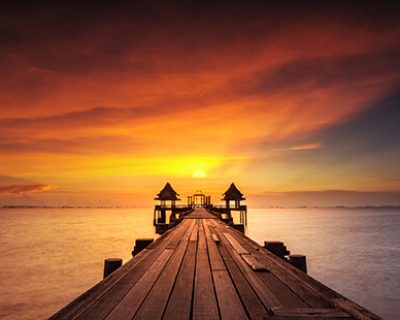 image of maldives sunset