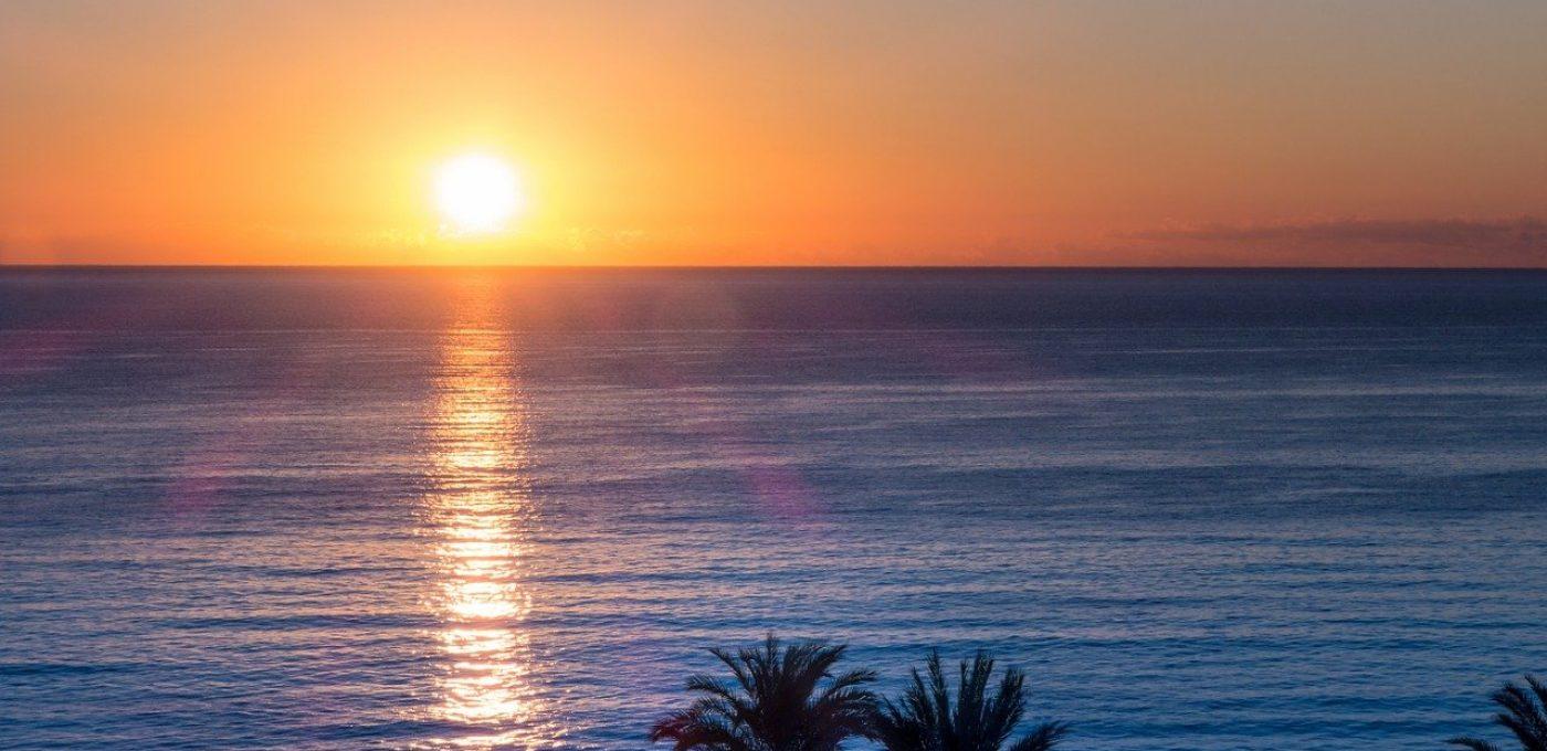 caribbean, sunset, sea